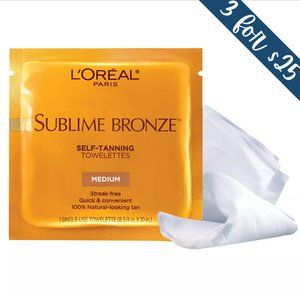 3/$25 L'Oreal Sublime Bronze Self-Tanning Wipes